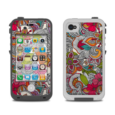 Lifeproof iPhone 4 Case Skin - Doodles Color