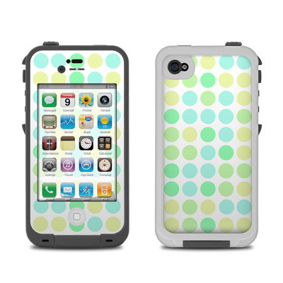 Lifeproof iPhone 4 Case Skin - Big Dots Mint
