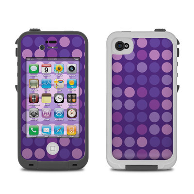 Lifeproof iPhone 4 Case Skin - Big Dots Purple