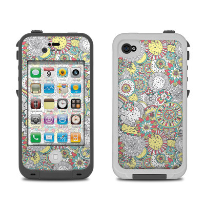 Lifeproof iPhone 4 Case Skin - Faded Floral