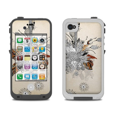 Lifeproof iPhone 4 Case Skin - Fall Floral