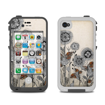 Lifeproof iPhone 4 Case Skin - Four Flowers