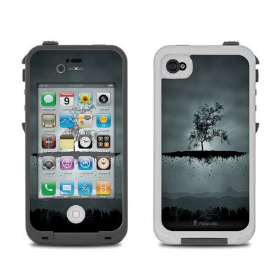 Lifeproof iPhone 4 Case Skin - Flying Tree Black