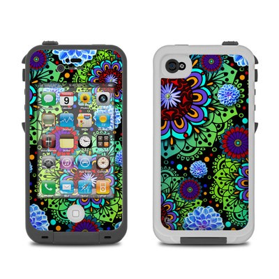 Lifeproof iPhone 4 Case Skin - Funky Floratopia