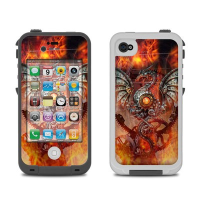 Lifeproof iPhone 4 Case Skin - Furnace Dragon