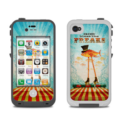 Lifeproof iPhone 4 Case Skin - God Bless The Freaks