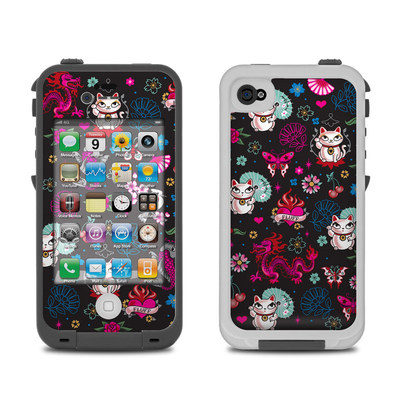 Lifeproof iPhone 4 Case Skin - Geisha Kitty