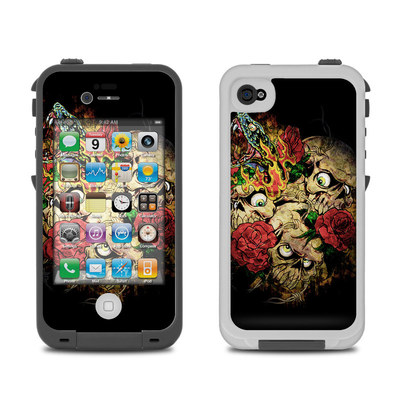 Lifeproof iPhone 4 Case Skin - Gothic Tattoo