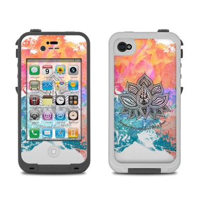 Lifeproof iPhone 4 Case Skin - Happy Lotus