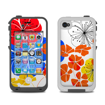 Lifeproof iPhone 4 Case Skin - Hibiscus Dance
