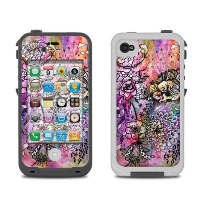 Lifeproof iPhone 4 Case Skin - Hot House Flowers