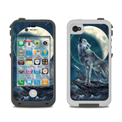 Lifeproof iPhone 4 Case Skin - Howling Moon Soloist