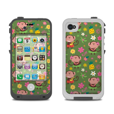 Lifeproof iPhone 4 Case Skin - Hula Monkeys