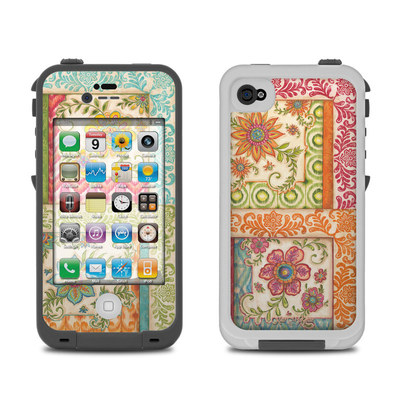 Lifeproof iPhone 4 Case Skin - Ikat Floral