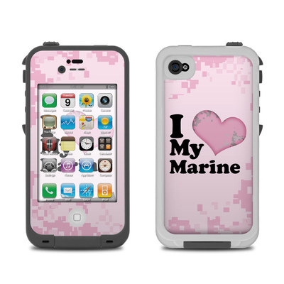 Lifeproof iPhone 4 Case Skin - I Love My Marine