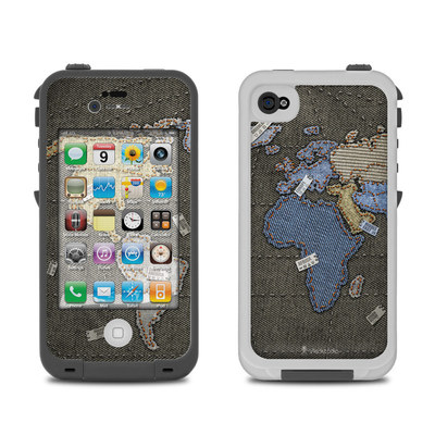 Lifeproof iPhone 4 Case Skin - Jean Map
