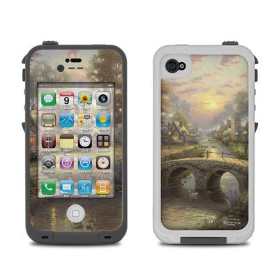 Lifeproof iPhone 4 Case Skin - Sunset On Lamplight Lane