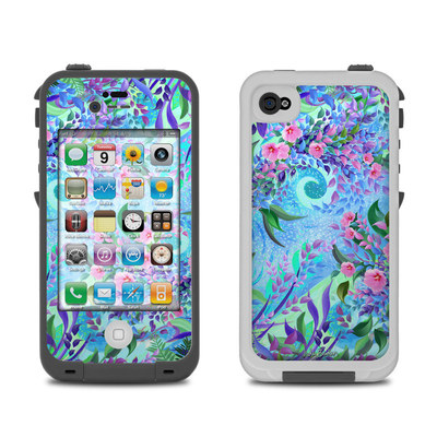 Lifeproof iPhone 4 Case Skin - Lavender Flowers