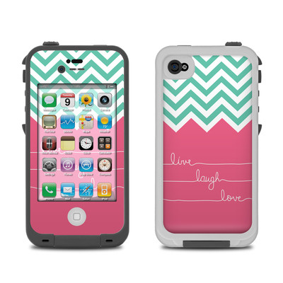 Lifeproof iPhone 4 Case Skin - Live Laugh Love
