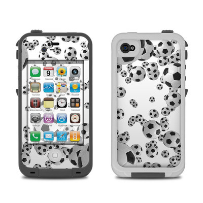 Lifeproof iPhone 4 Case Skin - Lots of Soccer Balls