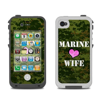 Lifeproof iPhone 4 Case Skin - Marine Wife