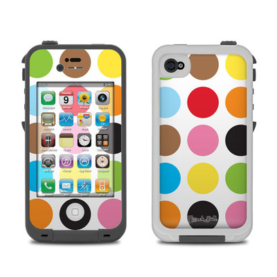 Lifeproof iPhone 4 Case Skin - Multidot