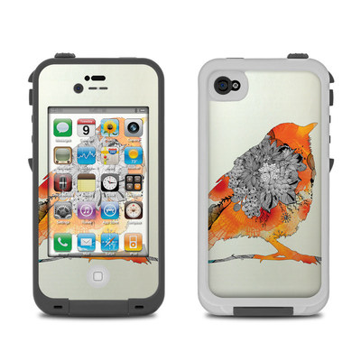 Lifeproof iPhone 4 Case Skin - Orange Bird