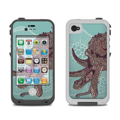 Lifeproof iPhone 4 Case Skin - Octopus Bloom
