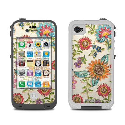 Lifeproof iPhone 4 Case Skin - Olivia's Garden