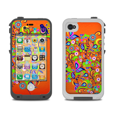 Lifeproof iPhone 4 Case Skin - Orange Squirt