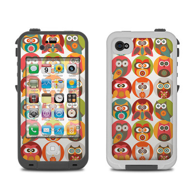 Lifeproof iPhone 4 Case Skin - Owls Family