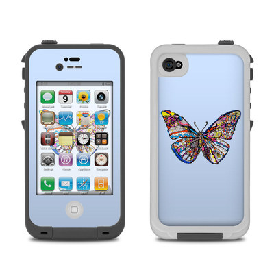 Lifeproof iPhone 4 Case Skin - Pieced Butterfly