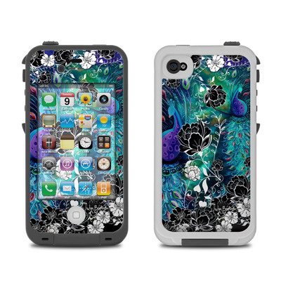 Lifeproof iPhone 4 Case Skin - Peacock Garden