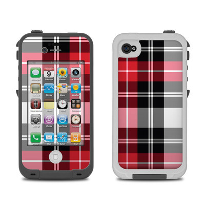 Lifeproof iPhone 4 Case Skin - Red Plaid
