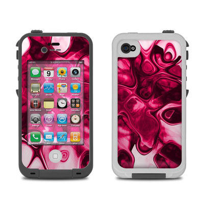 Lifeproof iPhone 4 Case Skin - Pink Splatter