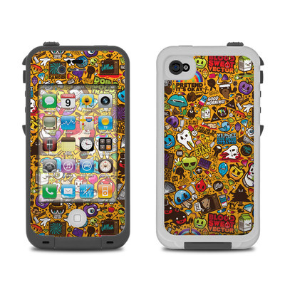 Lifeproof iPhone 4 Case Skin - Psychedelic