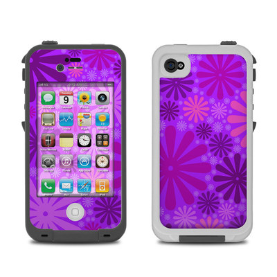 Lifeproof iPhone 4 Case Skin - Purple Punch