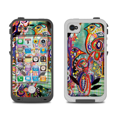 Lifeproof iPhone 4 Case Skin - Purple Birds