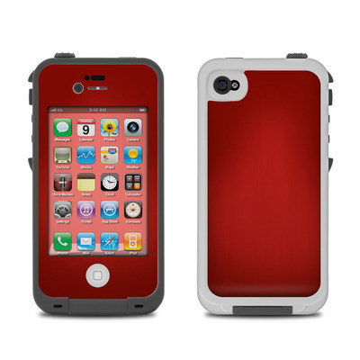 Lifeproof iPhone 4 Case Skin - Red Burst
