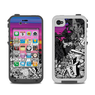 Lifeproof iPhone 4 Case Skin - Robo Fight
