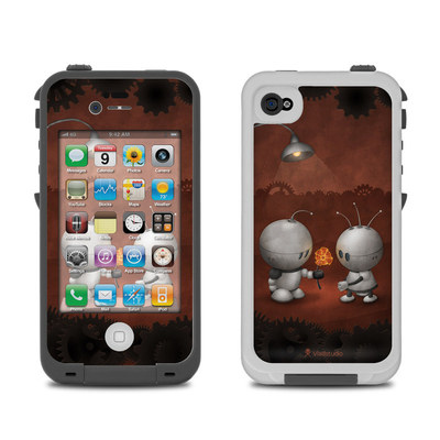 Lifeproof iPhone 4 Case Skin - Robots In Love