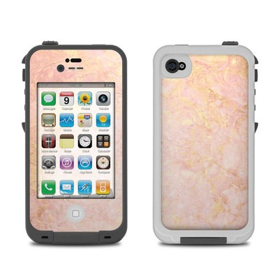 Lifeproof iPhone 4 Case Skin - Rose Gold Marble