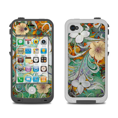 Lifeproof iPhone 4 Case Skin - Sangria Flora