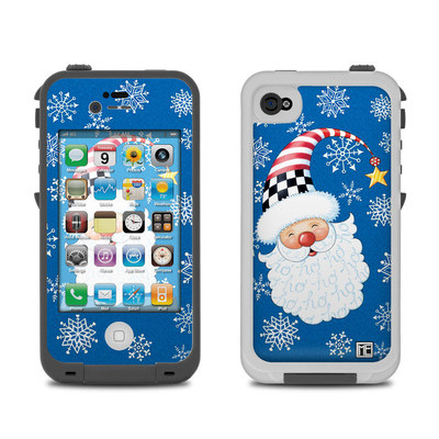 Lifeproof iPhone 4 Case Skin - Santa Snowflake