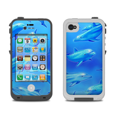 Lifeproof iPhone 4 Case Skin - Swimming Dolphins