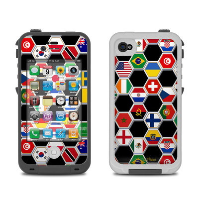 Lifeproof iPhone 4 Case Skin - Soccer Flags