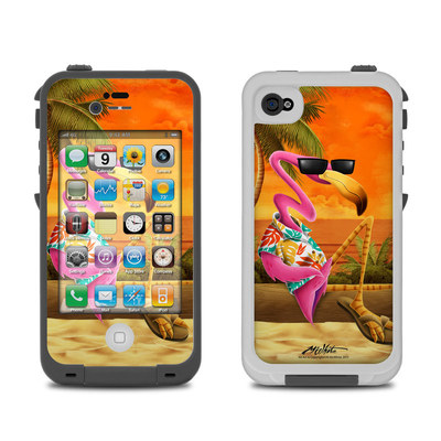 Lifeproof iPhone 4 Case Skin - Sunset Flamingo