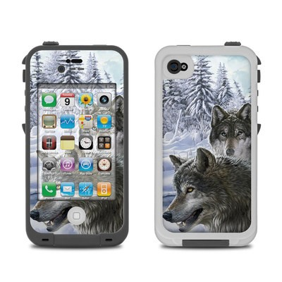 Lifeproof iPhone 4 Case Skin - Snow Wolves