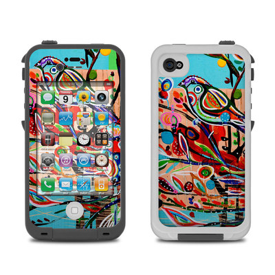 Lifeproof iPhone 4 Case Skin - Spring Birds