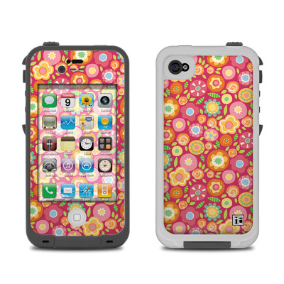 Lifeproof iPhone 4 Case Skin - Flowers Squished